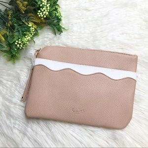 Chloe Small Zip Makeup Pouch Dusty Rose